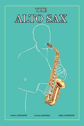 The Alto Sax Autocollant mural