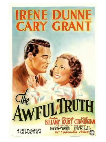 The Awful Truth, 1937 Reproduction giclée Premium