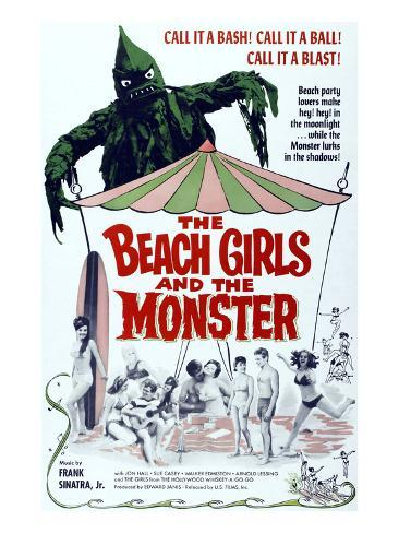 The Beach Girls And the Monster, 1965 Photographie