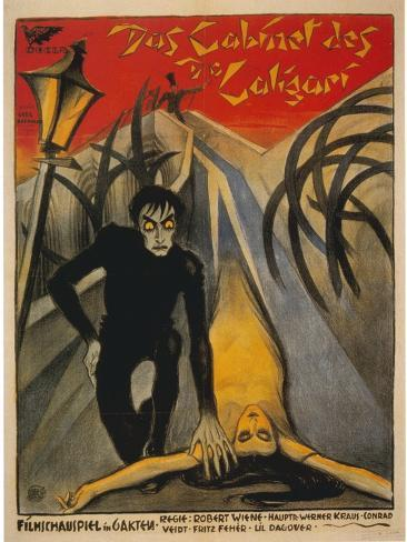 The Cabinet of Dr. Caligari, Italian Movie Poster, 1919 Reproduction giclée Premium