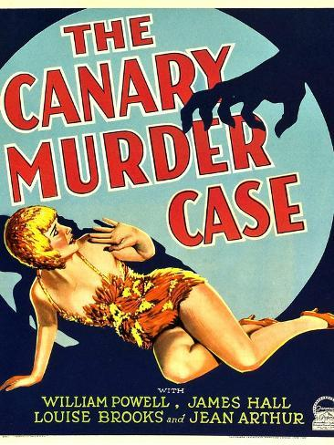 THE CANARY MURDER CASE, Louise Brooks on window card, 1929 Reproduction d'art