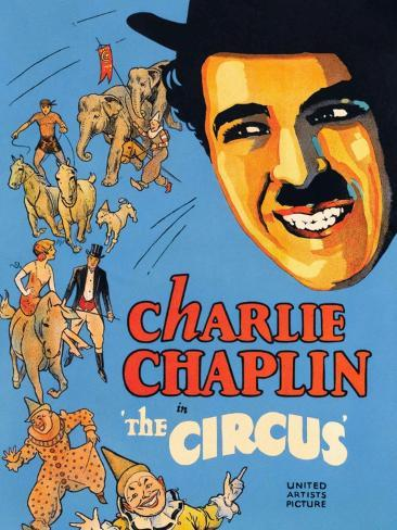 THE CIRCUS, Charlie Chaplin, 1928 Reproduction giclée Premium