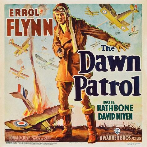 THE DAWN PATROL, Errol Flynn, 1938. Reproduction d'art
