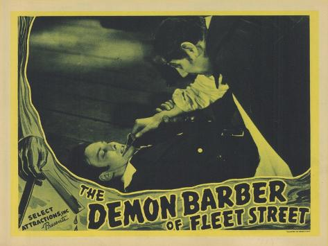 The Demon Barber of Fleet Street, 1939 Reproduction d'art