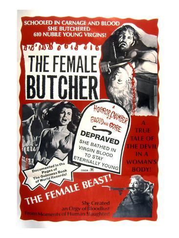 The Female Butcher, 1973 Photographie
