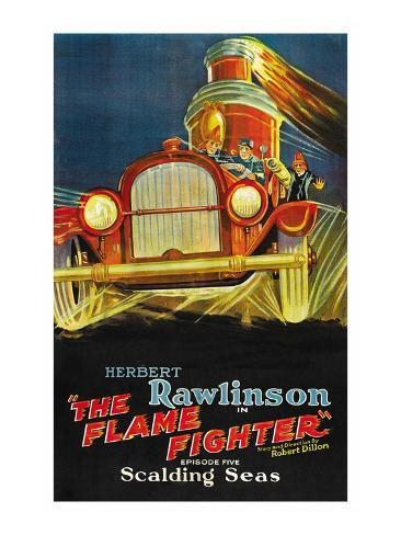 The Flame Fighter; Scalding Seas Reproduction d'art