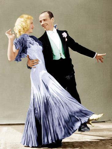 The Gay Divorce, Ginger Rogers, Fred Astaire, 1934 Photographie