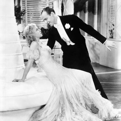 The Gay Divorcee, Ginger Rogers, Fred Astaire, 1934 Photographie