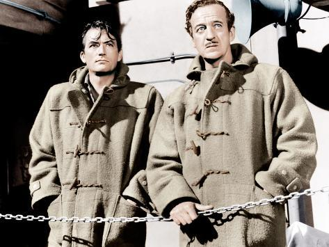 THE GUNS OF NAVARONE, from left: Gregory Peck, David Niven, 1961 Photographie