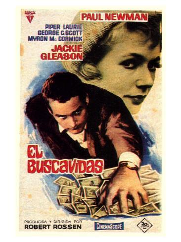 The Hustler, Spanish Movie Poster, 1961 Reproduction giclée Premium