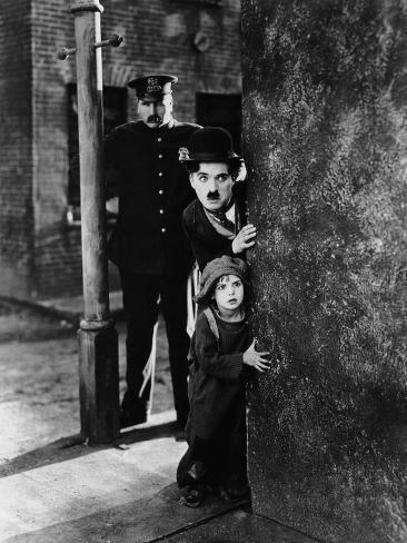 The Kid, Tom Wilson, Charles Chaplin, Jackie Coogan, 1921 Photographie