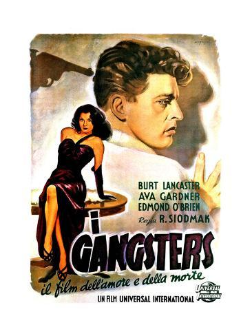 The Killers, (AKA I Gangsters), Ava Gardner, Burt Lancaster, 1946 Reproduction procédé giclée