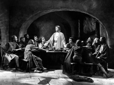 The King Of Kings, H. B. Warner As Jesus Christ, Joseph Schildkraut As Judas Iscariot, 1927 Photographie