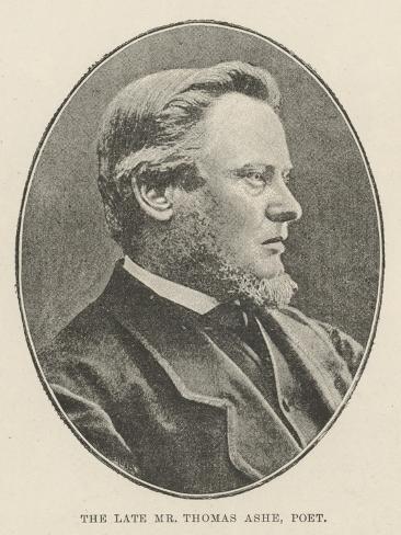 The Late Mr Thomas Ashe, Poet Reproduction procédé giclée