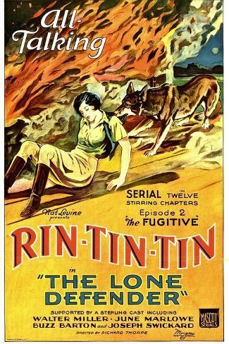 THE LONE DEFENDER, from left: June Marlowe, Rin-Tin-Tin in 'Episode 2: The Fugitive', 1930. Reproduction d'art