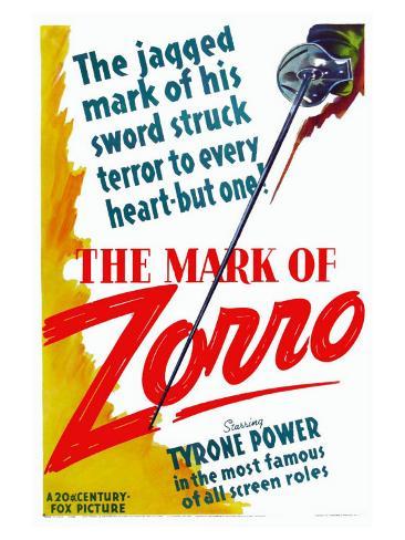 The Mark of Zorro, 1940 Reproduction d'art