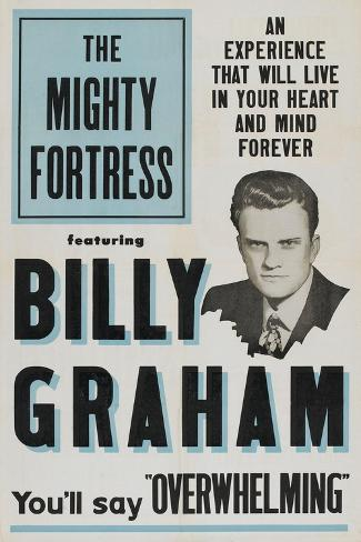 THE MIGHTY FORTRESS, Billy Graham, 1955 Reproduction d'art