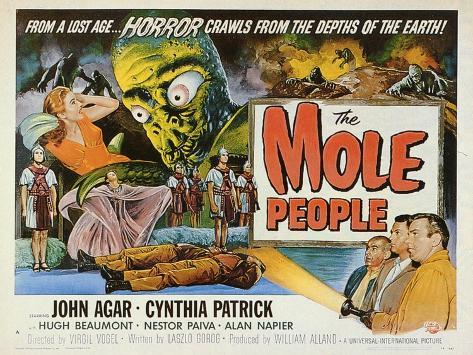 The Mole People, 1956 Reproduction d'art