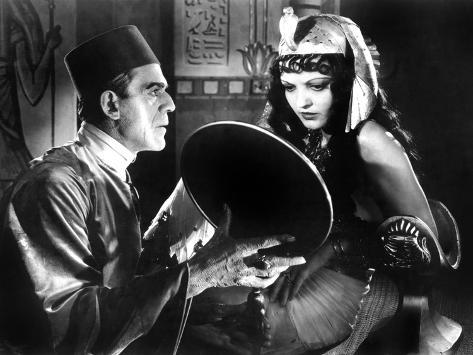 The Mummy, Boris Karloff, Zita Johann, 1932 Photographie