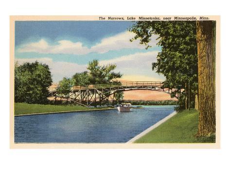 The Narrows, Lake Minnetonka, Minneapolis, Minnesota Reproduction d'art