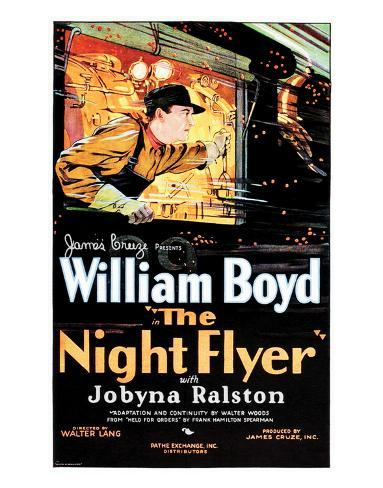 The Night Flyer - 1928 Reproduction procédé giclée