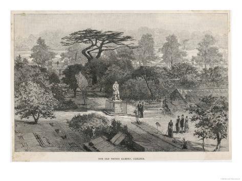 The Old Physick Garden Chelsea London Reproduction procédé giclée