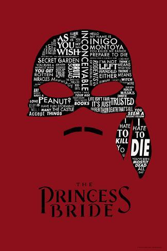 The Princess Bride Mask Reproduction d'art