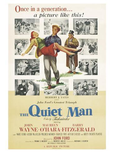 The Quiet Man, 1952 Reproduction d'art