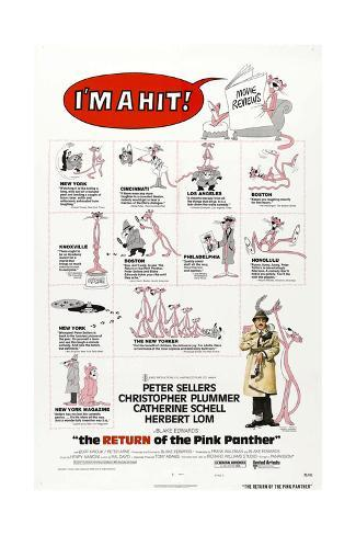 The Return of the Pink Panther, US poster, Peter Sellers, 1975 Reproduction d'art
