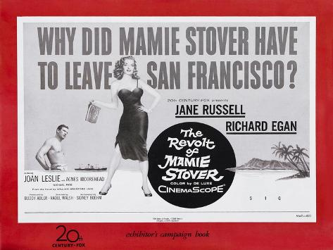 The Revolt of Mamie Stover, UK Movie Poster, 1956 Reproduction d'art