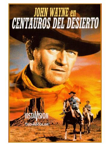 The Searchers, Spanish Movie Poster, 1956 Reproduction d'art