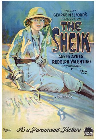 The Sheik Movie Rudolph Valentino Agnes Ayres Poster Print Poster