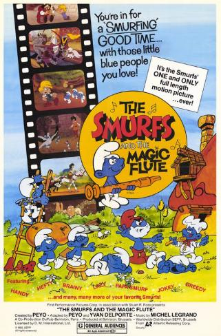 The Smurfs and the Magic Flute Affiche originale