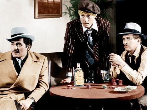 THE STING, from left: Robert Shaw, Robert Redford, Paul Newman, 1973 Photographie