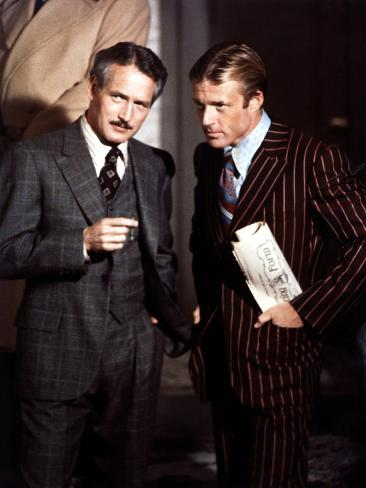 The Sting, Paul Newman, Robert Redford, 1973 Photographie