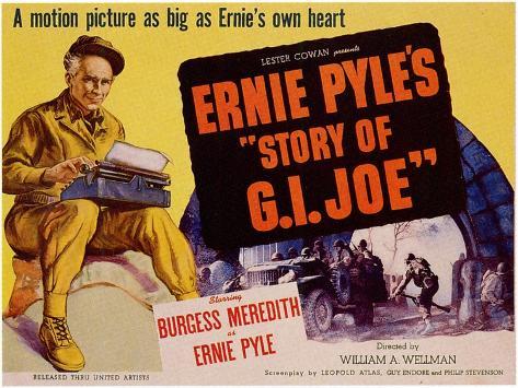 The Story of G.I. Joe, 1945 Reproduction d'art
