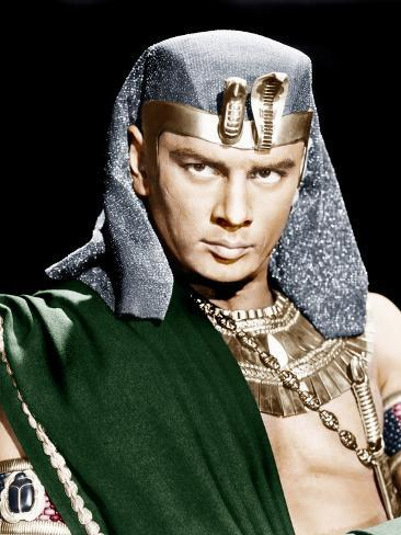 THE TEN COMMANDMENTS, Yul Brynner, 1956 Photographie