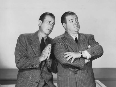 The Time of their Lives, from Left: Bud Abbott, Lou Costello, 1946 Photographie