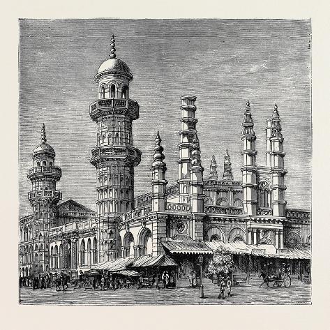 The Viceroy of India's Visit to Rangoon, British Burma: Mahomedan Mosque Reproduction procédé giclée