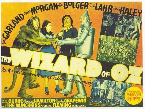 The Wizard of Oz, 1939 Reproduction d'art