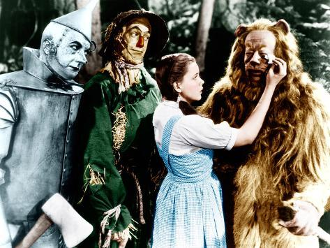 The Wizard of Oz, Jack Haley, Ray Bolger, Judy Garland, Bert Lahr, 1939 Photographie