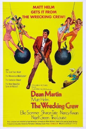 THE WRECKING CREW, US poster, Dean Martin, 1969 Reproduction d'art