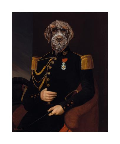 Le Commandant Reproduction giclée Premium