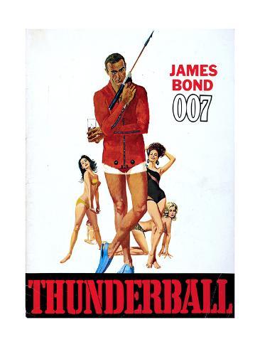 Thunderball, Sean Connery 1965 Reproduction procédé giclée