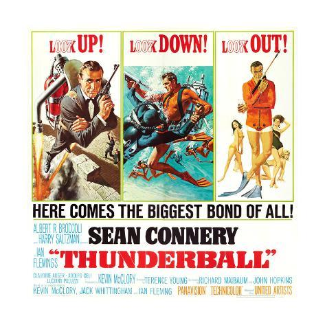 Thunderball, Sean Connery, 1965 Reproduction procédé giclée