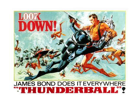 Thunderball, Sean Connery, (Poster Art), 1965 Reproduction procédé giclée