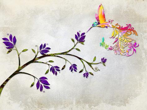 Hummingbird of Paradise Reproduction procédé giclée