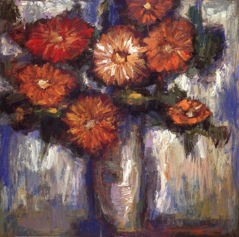 Orange Poppies II Reproduction d'art