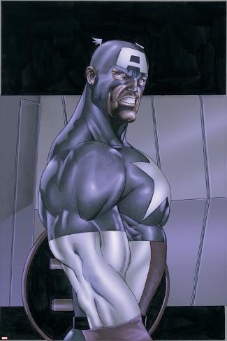 Wolverine & Captain America No.4 Cover: Captain America Poster