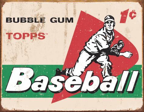 TOPPS - 1958 Baseball Cards Plaque en métal